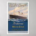 Impresión Britannic del poster del Co. de la nave