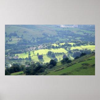 Impresión brumosa del valle impresiones