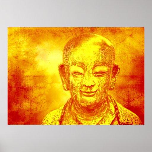 Impresión Buda de la lona de Leinwanddruck Leinwan Póster