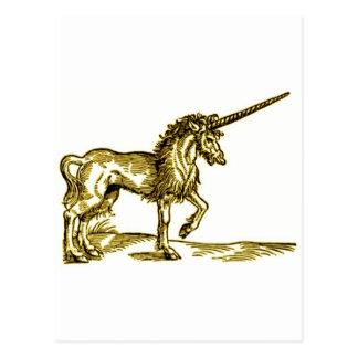 Impresión c.1551 del vintage del UNICORNIO en tono Postales