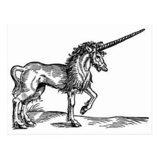 Impresión C. 1551 del vintage del UNICORNIO Postales