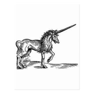 Impresión C. 1551 del vintage del UNICORNIO Tarjeta Postal
