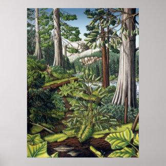 Impresión canadiense de la pintura de paisaje de