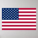 Impresión capítulo con la bandera de los E.E.U.U. Poster