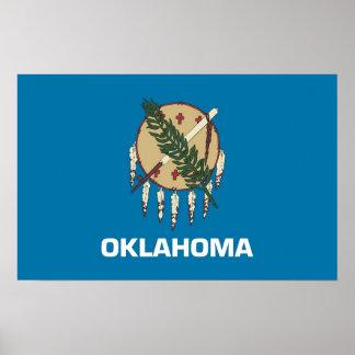 Impresión capítulo con la bandera de Oklahoma, los Impresiones