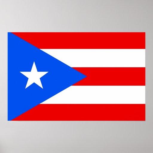 Impresión capítulo con la bandera de Puerto Rico,  Póster