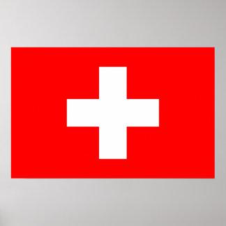 Impresión capítulo con la bandera de Suiza Póster