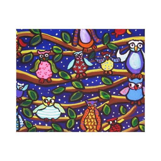 Impresión caprichosa de la lona de arte popular de lona estirada galerías