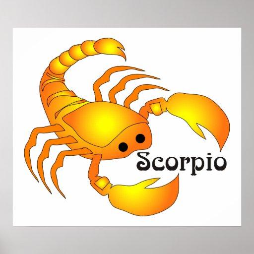 Impresión caprichosa del escorpión poster