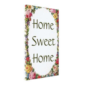 Impresión casera dulce casera floral de la lona lienzo envuelto para galerías