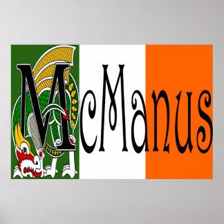 Impresión céltica del dragón de McManus Poster