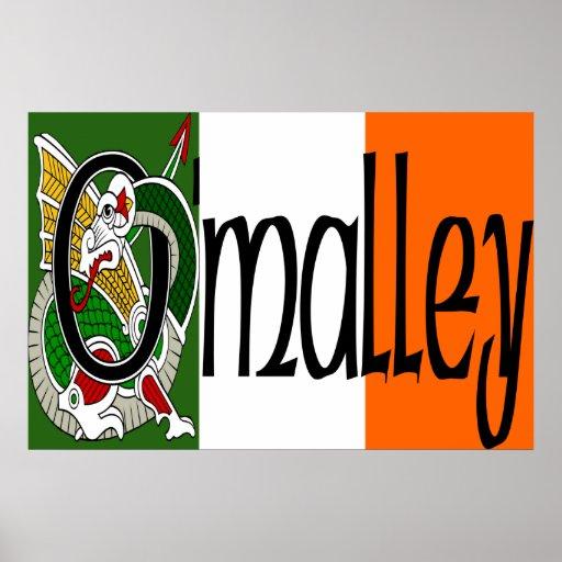 Impresión céltica del dragón de O'Malley Póster