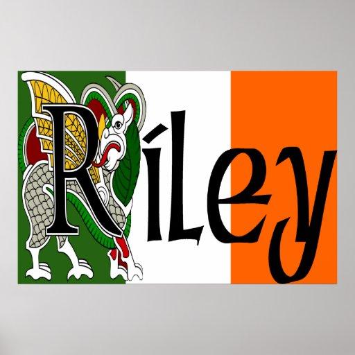 Impresión céltica del dragón de Riley