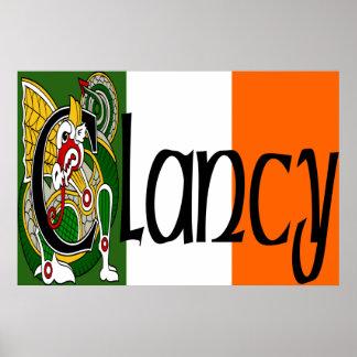 Impresión céltica del poster del dragón de Clancy