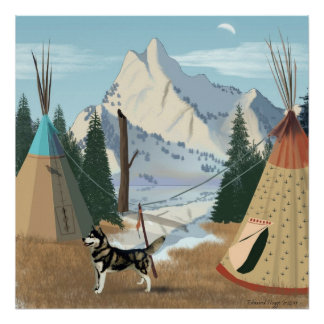 Impresión cherokee del pueblo posters