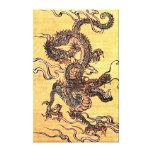 Impresión china de la lona del dragón del vintage lona envuelta para galerías