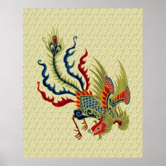 Impresión china del poster del diseño del arte del