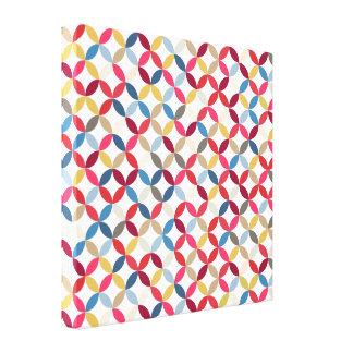 Impresión circular colorida intrépida de la lona d impresiones de lienzo