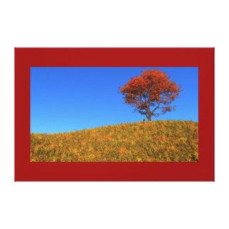 Impresión clara de la lona del día del otoño lona estirada galerias
