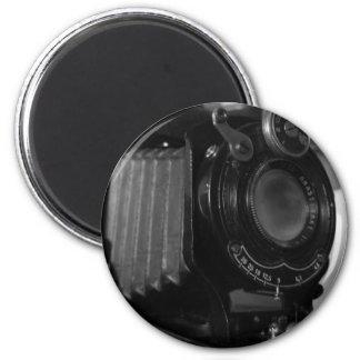 Impresión clásica de la cámara imán redondo 5 cm