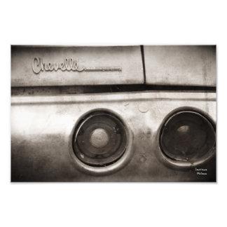 Impresión clásica de la fotografía del coche del cojinete
