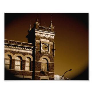 Impresión clásica de la torre de reloj fotografia