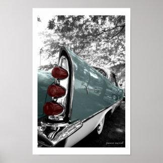 Impresión clásica del coche 4 impresiones