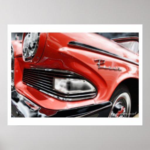 Impresión clásica del poster del coche 195