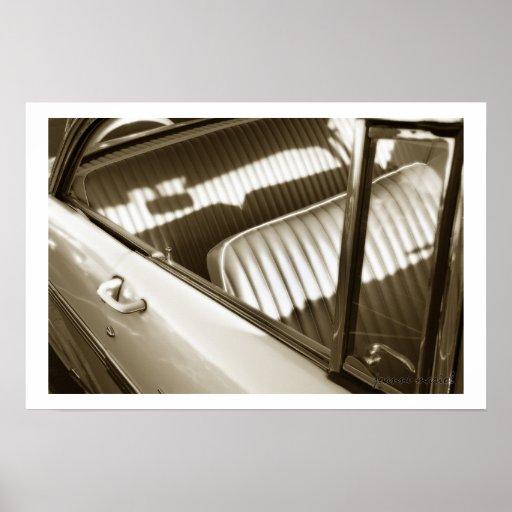 Impresión clásica del poster del coche 70