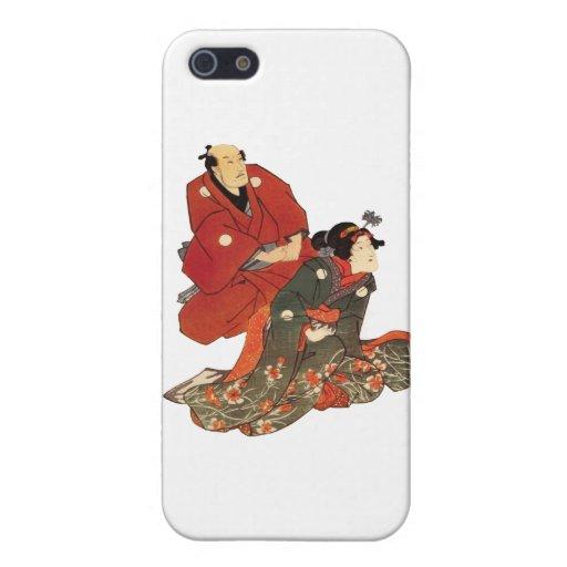 impresión clásica japonesa del estilo iPhone 5 fundas