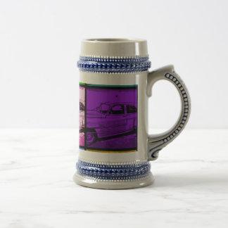 Impresión clásica vieja del arte pop de la acuarel tazas
