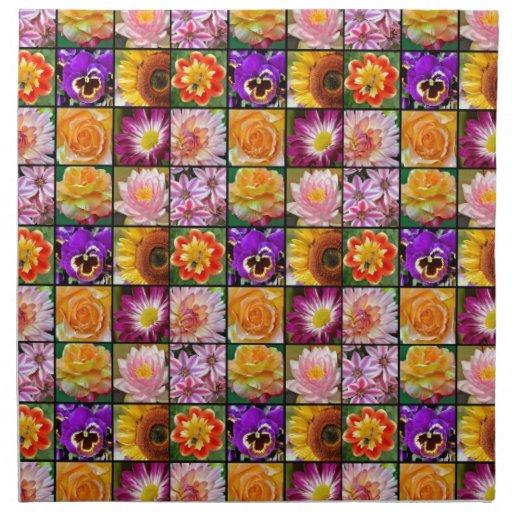 Impresión clasificada colorida del collage de la f servilleta de papel