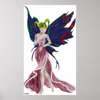 Impresión (color de rosa) de la lona de Flutterby  Impresiones