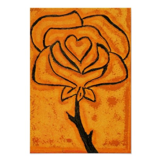 Impresión color de rosa del arte del corazón impresiones