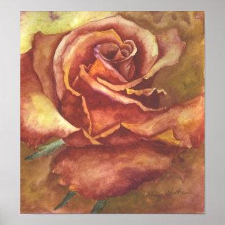 "Impresión ""color de rosa"" rústica de Karen Chatham"