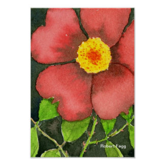 Impresión color de rosa salvaje del arte póster