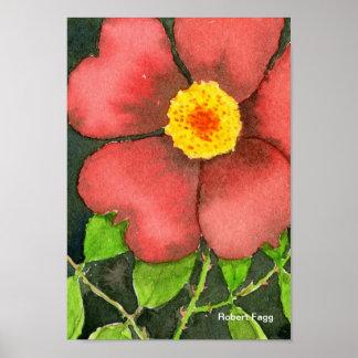 Impresión color de rosa salvaje del arte posters