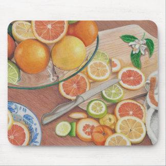 impresión coloreada exhibición anaranjada del mouse pads