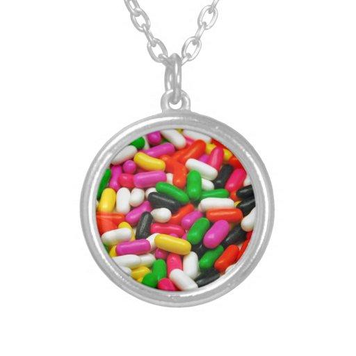 Impresión coloreada multi del caramelo grimpola
