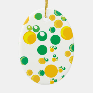 impresión colorida adorno navideño ovalado de cerámica
