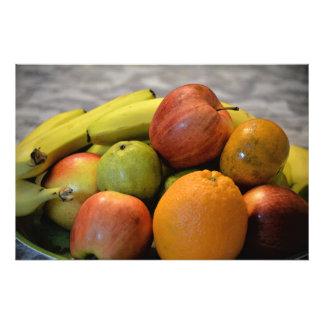 impresión colorida de la imagen de las frutas. fotografia
