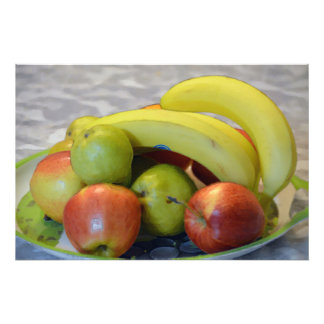 impresión colorida de la imagen de las frutas. fotografía