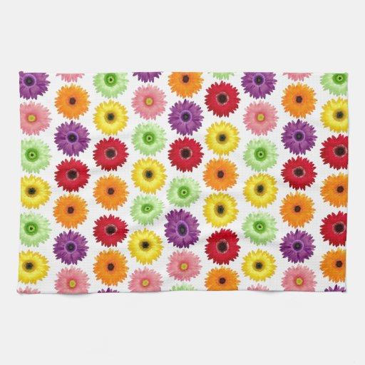 Impresión colorida de la margarita toallas