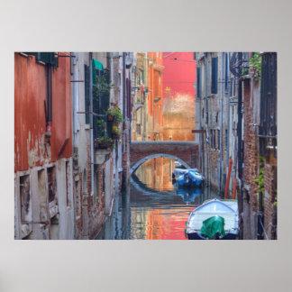 Impresión colorida de Venecia Italia Póster
