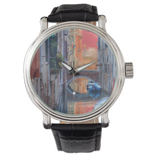 Impresión colorida de Venecia Italia Reloj De Mano