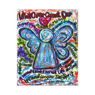 Impresión colorida del arte de la lona del ángel d impresiones en lona estiradas