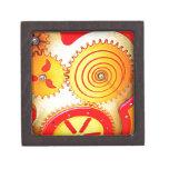 Impresión colorida del arte del engranaje caja de recuerdo de calidad