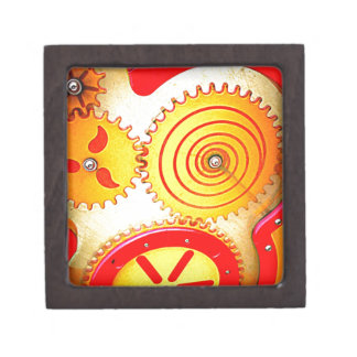Impresión colorida del arte del engranaje cajas de regalo de calidad