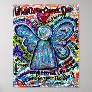 Impresión colorida del poster del ángel del ángel