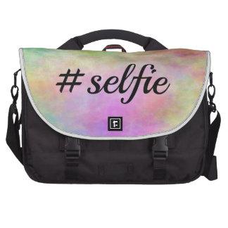 impresión colorida del #selfie bolsas para portátil